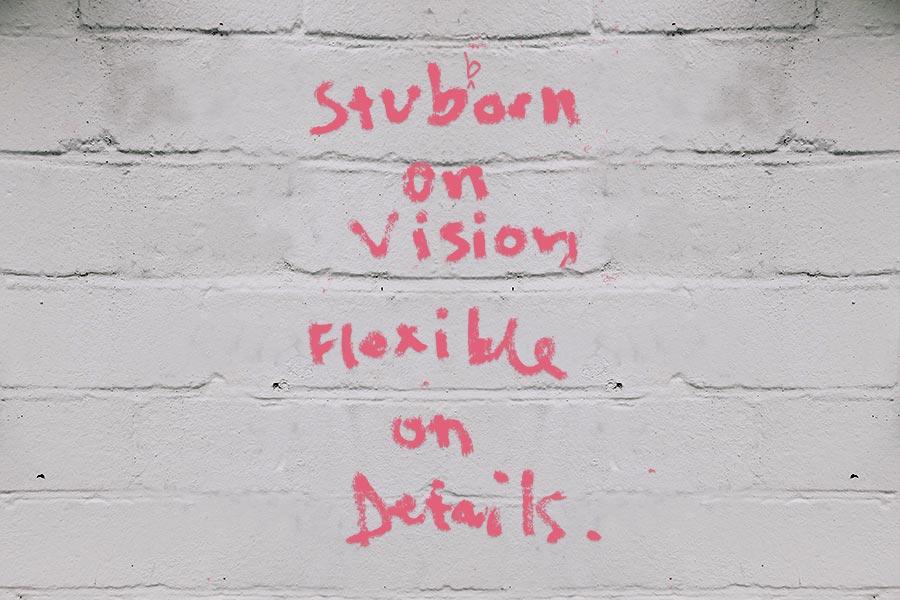graffiti stubborn on vision flexible on details