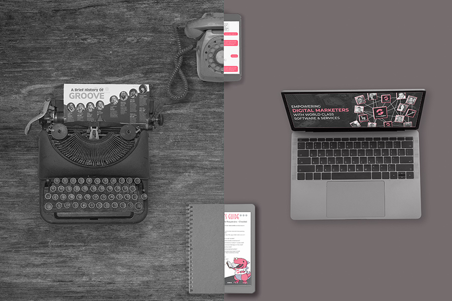 Type write, note book and telephone vs modern technology