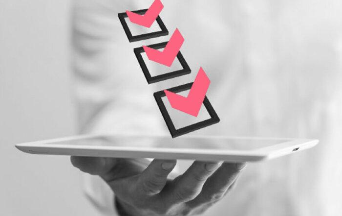 Ipad with checklist