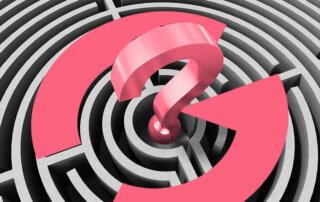 Question mark lost maze